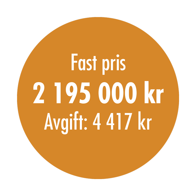 Fast pris 2 195 000 kr